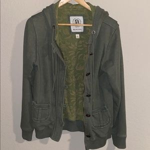 MERONA SWEATER JACKET GREEN XL